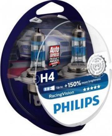 Bec halogen H4 Philips Racing Vision +150% de la Alex & Bea Auto Group Srl