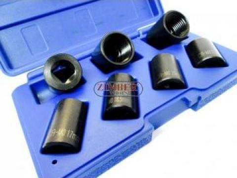 Extractoare suruburi antifurt sau rotunjit 1/2, 7-buc de la Zimber Tools