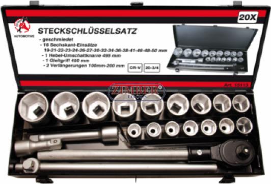 Trusa tubulare 19-50 mm,act 3/4.20- piese.15113-BGS technic de la Zimber Tools