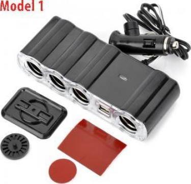 Incarcator auto USB Prelungitor priza bricheta porturi de la Caraudiomarket.ro - Accesorii Auto Dedicate