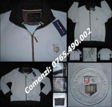 Bluza bleu groasa barbati sport casual Gant U.S.A. 100% bbc de la Cieaura