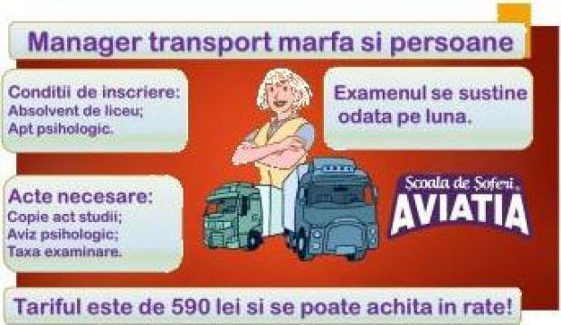 Curs atestat pentru manager transport de la Scoala De Soferi Aviatia