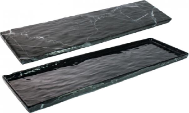 Tava servire dreptunghiulara din melamina Marble 16,3x53x1cm de la Basarom Com