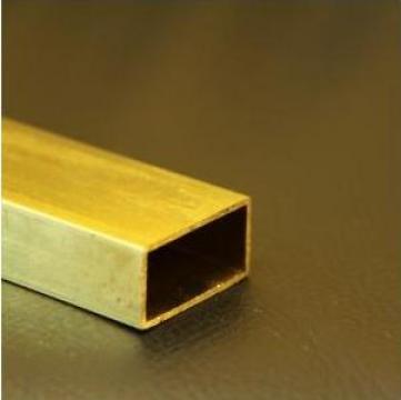 Teava alama dreptunghiulara 40x20x1.5x1000mm CuZn37 CW508L de la MRG Stainless Group Srl