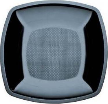 Platou negru patrat 230x230mm de la Cristian Food Industry Srl.