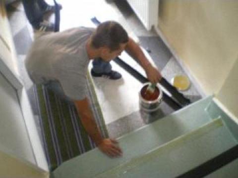 Montaj linoleum scari