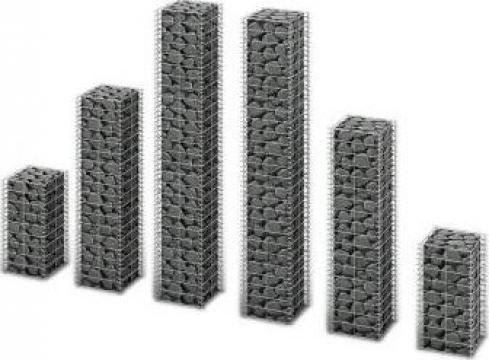 Set gabioane, 6 buc., sarma galvanizata