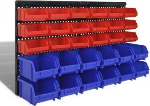 Set organizator plastic garaj, montare perete