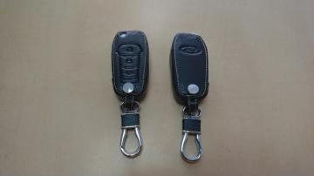 Husa piele cheie Ford Mondeo Kuga Mustang Edge Focus de la Caraudiomarket.ro - Accesorii Auto Dedicate