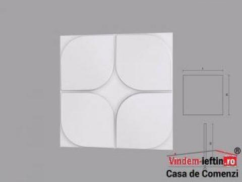 Panou decorativ 3D din poliuretan Flores 600X600mm de la Vindem-ieftin.ro