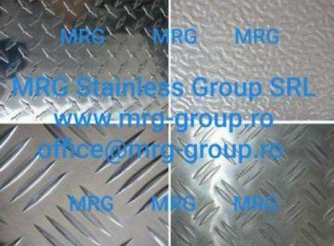 Tabla aluminiu Stucco gofrata embosata 0.8x1000x2000mm rulou de la MRG Stainless Group Srl