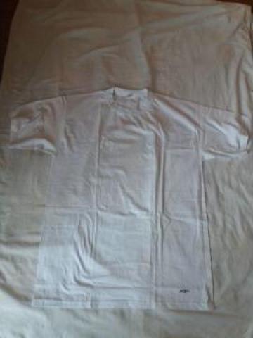 Tricou alb bumbac 100% la baza gatului de la Razvan Evg Trade Srl