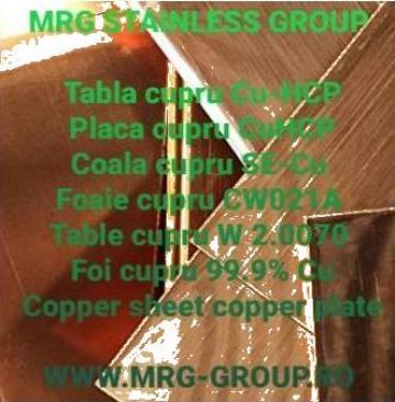 Tabla cupru aliaj Cu-HCP SE-Cu CW021A W2.0070, rulou alama de la MRG Stainless Group Srl