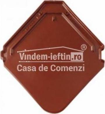 Tigla de beton 1/1 Bramac Smaragd Castaniu de la Vindem-ieftin.ro