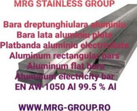 Platbanda aluminiu electricitate 40x10mm ENAW 1050 moale O de la MRG Stainless Group Srl