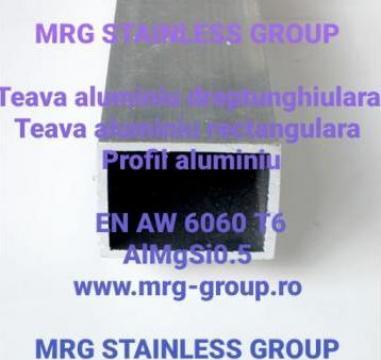 Teava aluminiu dreptunghiulara 50x30mm rectangulara, patrata