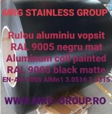 Tabla rulou aluminiu vopsit 1x1000mm RAL 9005 AW 5005