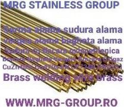 Sarma sudura alama 3mm CuZn40Si brazare flacara oxigaz Inox de la MRG Stainless Group Srl