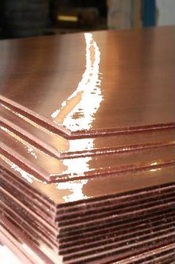 Placa cupru 8mm, tabla cupru Copper plate sheet aluminiu de la MRG Stainless Group Srl