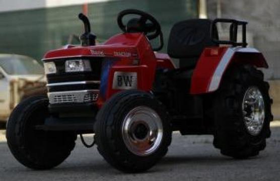Jucarie tractor electric cu telecomanda pentru copii de la SSP Kinderauto & Beauty Srl