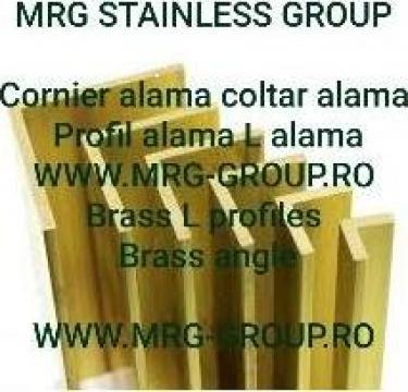 Cornier alama 60x60x5 coltar alama, profil L alama, aluminiu de la MRG Stainless Group Srl