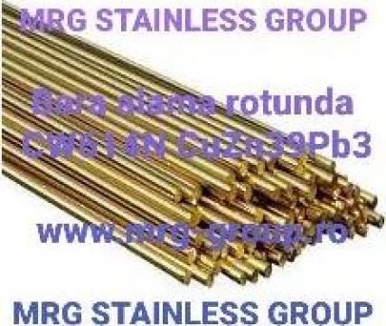 Bara rotunda alama Brass 6x3000mm CuZn39pb3