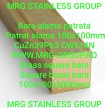 Bara alama patrata 100x100mm, patrat alama CW614N de la MRG Stainless Group Srl