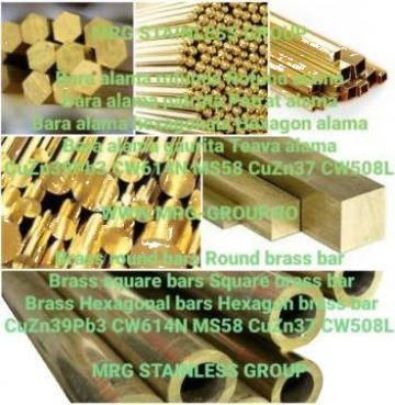 Bara alama patrata 30x30 patrat alama Brass square aluminiu de la MRG Stainless Group Srl