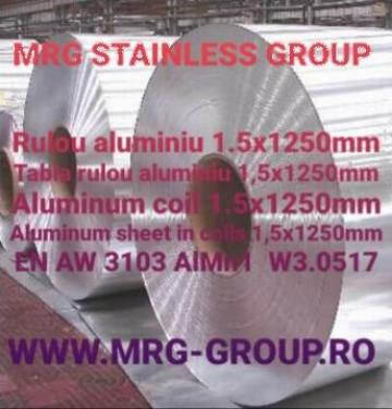 Tabla rulou aluminiu 1.5x1250 AW 3103 AlMn1 1050A
