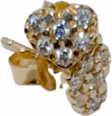 Cercei din aur Inimioara de la Dixi Bijou Srl