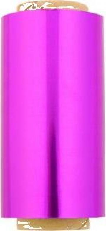Folie alimentara aluminiu roz 12cm x 50m de la Cristian Food Industry Srl.