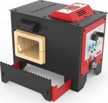Cuptor de forja cu gaz propan H1 de la Proma Machinery Srl.