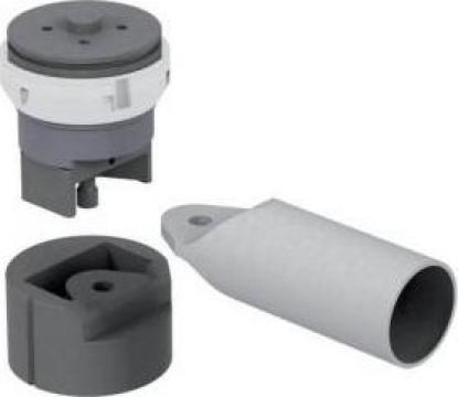 Dispozitiv de rotunjire si perforare tevi aplatizate Geka de la Proma Machinery Srl.