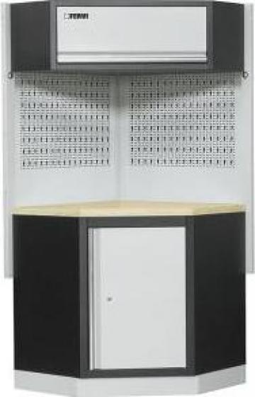 Dulap de colt pentru atelier modular A007F de la Proma Machinery Srl.