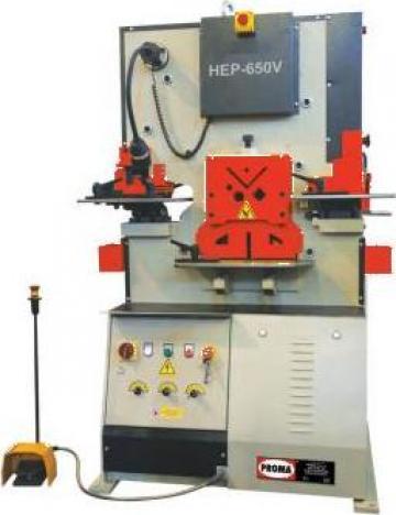 Foarfeca combinata pentru metal HEP-650 V de la Proma Machinery Srl.