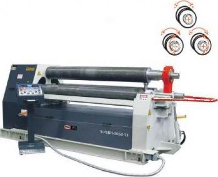 Masini hidraulice de roluit tabla cu 3 valturi 3-PSBH-3100-6 de la Proma Machinery Srl.