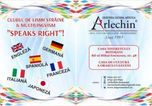 Curs de limbi straine si multilingvism Speaks Right de la Central Dance Studio - Botosani