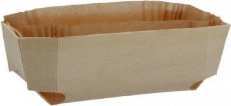 Forma din lemn pentru copt cozonac 185x115x60mm de la Cristian Food Industry Srl.