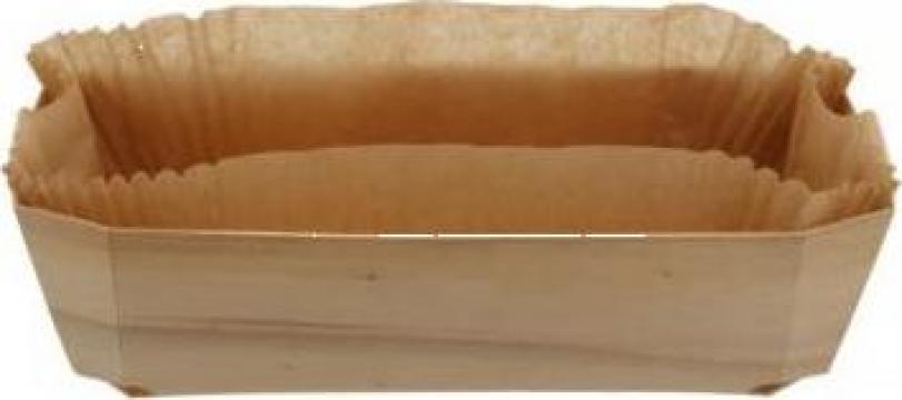 Forma din lemn pentru copt cozonac 250x115x75mm de la Cristian Food Industry Srl.