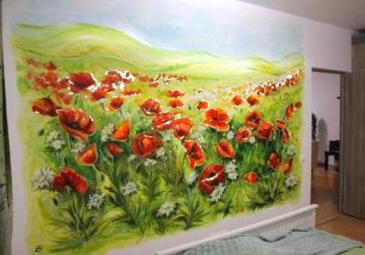 Pictura pe perete de la