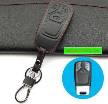 Husa piele cheie Audi New Q7 TT A4 B9 A7 smart start de la Caraudiomarket.ro - Accesorii Auto Dedicate