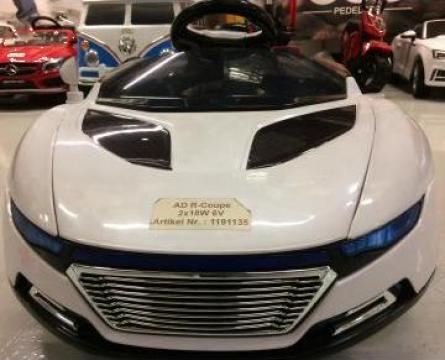 Jucarie masinuta AD R-Coupe echipata standard, alb