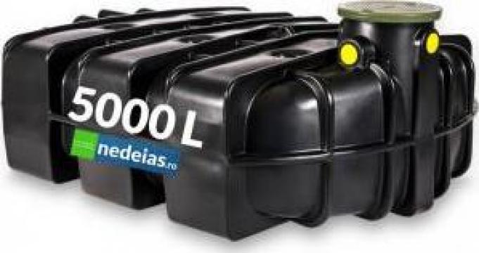 Rezervor subteran plat pentru colectarea apei 5000 litri de la Nedeias Com Srl