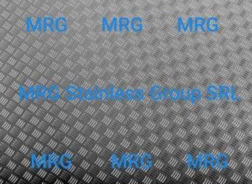 Tabla striata 5 bare aluminiu 2x1250x2500mm 5 bare placa de la MRG Stainless Group Srl