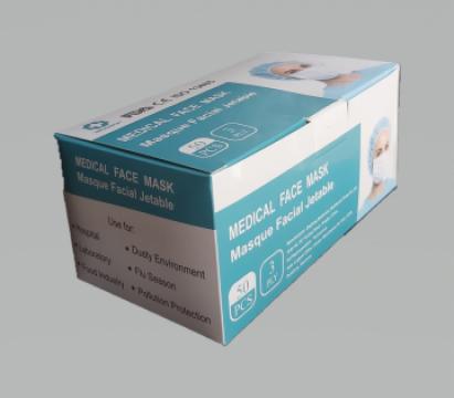 Masti chirurgicale, de protectie, BFE > 99 % de la Top Trade Medical Srl