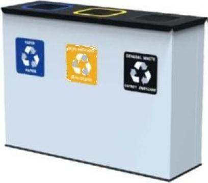 Baterie colectare selectiva antibacteriana Eko Station