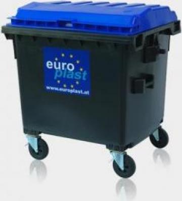 Container 1100 litri capac plat de la Europlast Romania Srl