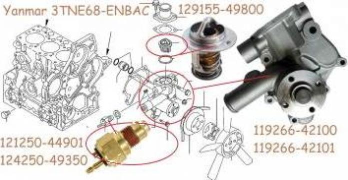 Pompa apa Yanmar 3TNE68-ENBAC, 3TNE68-NBAB, Takeuchi