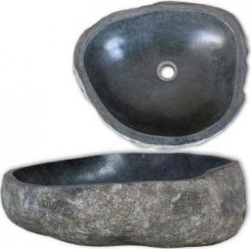 Chiuveta din piatra de rau, 46-52 cm, oval de la Vidaxl