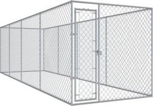 Padoc pentru caini de exterior, 7,6 x 1,9 x 2 m de la Vidaxl
